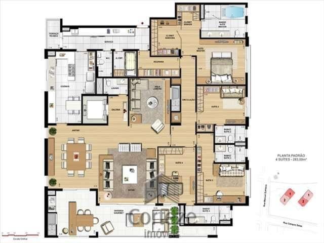 Apartamento com 4 suítes no Juvevê - Foto 10