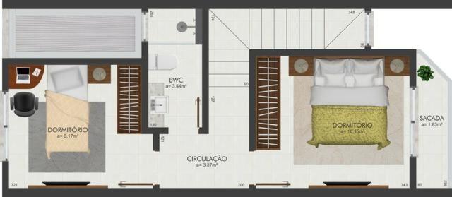 Excelente sobrado de dois dormitórios em Potecas São José - Foto 4