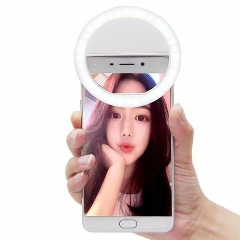 Luz De Selfie Ring Anel Led Flash Celular Tablet Branca