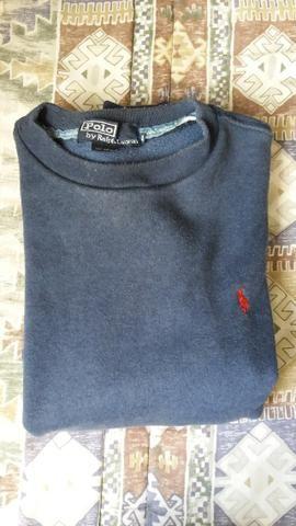Blusa de moleton Polo Ralph Lauren original tamanho M masculina Azul marinho 5416437db0