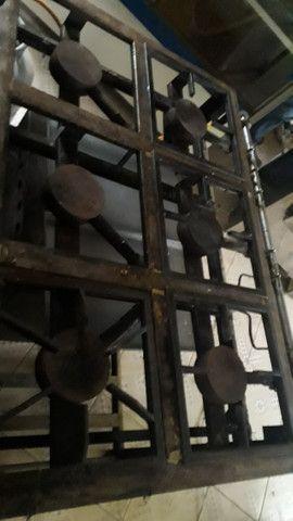 Fogao industrial marca venancio 6 bocas com forno - Foto 3