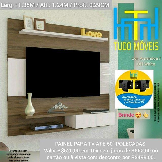 PAINEL PARA TV ATÉ 50 Pol. 1 Porta (BRINDE SUPORTE) - Foto 2