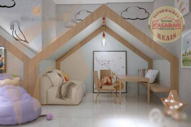 Apartamento com 2 dormitórios à venda, 93 m² por R$ 465.000 - Aviação - Praia Grande/SP - Foto 10