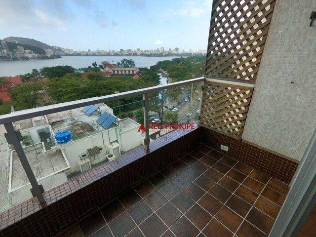 Apartamento com 2 dormitórios para alugar, 84 m² por R$ 5.300,00/mês - Lagoa - Rio de Jane - Foto 5