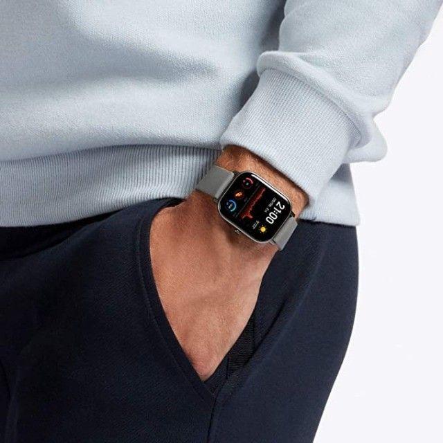 Relógio Xiaomi Amazfit GTS-A1914 - Preto - Cinza - Dourado - Foto 3