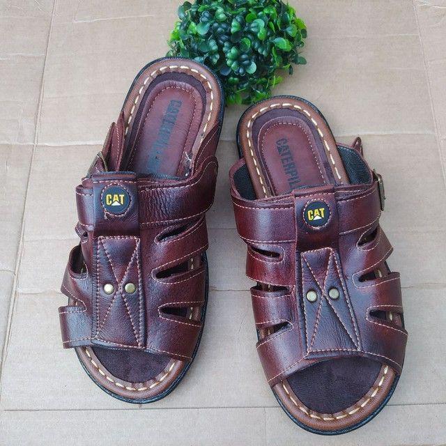 Sandálias em couro  - Foto 2