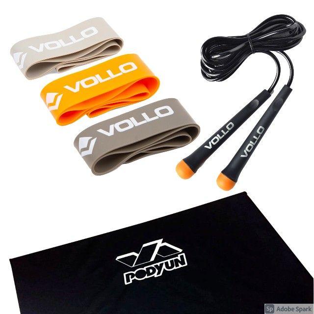 Kit Funcional Corda + Colchonete 2cm + Kit MiniBand
