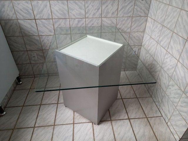Mesa de vidro 1,2X0,8m - Foto 3