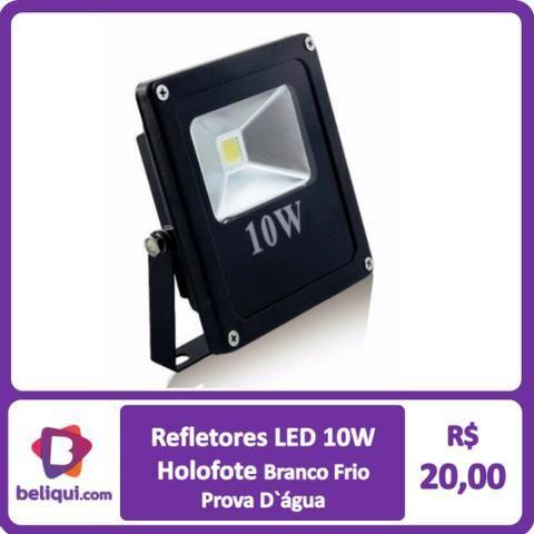 Refletor Led Holofote Bivolt Prova D'água Branco Frio 10W