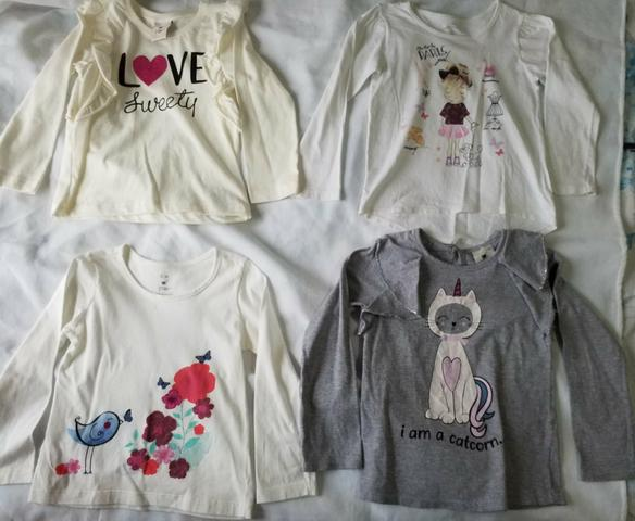 Lote camisas fininhas meninas 3 anos (novinhas)