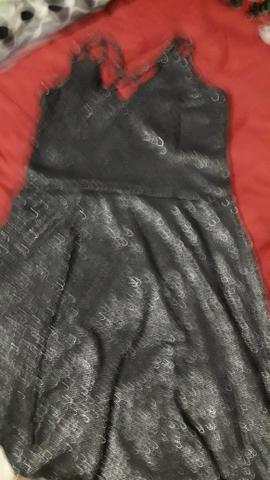 Vestido c brilho preto