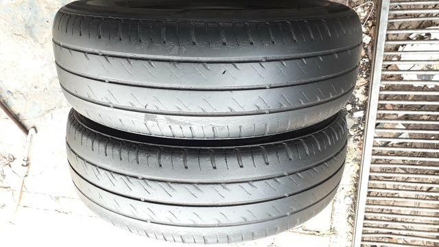 Par de pneu 175/70/13 usado meia vida - Foto 3