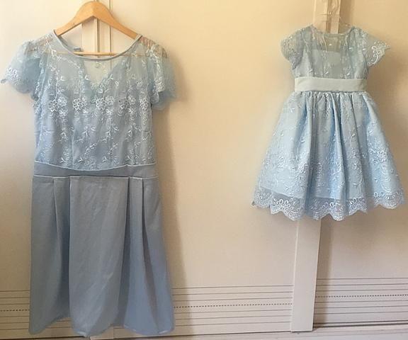 Vestido de festa luxo tal mãe e tal filha