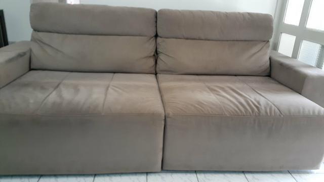 Sofá reclinável de 3 posições