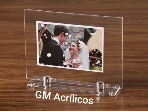 Porta-retrato personalizado como lembrança de casamento kit 100 peças