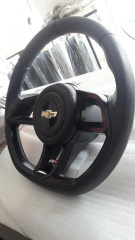 Volante GTI Cor preto para Celta, Corsa Classic, Corsa Wind, prisma  - Foto 3