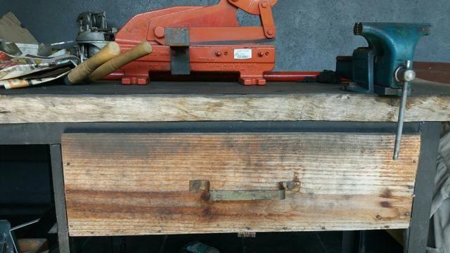 Bancada de madeira mais ferramentas para oficinas - Foto 3
