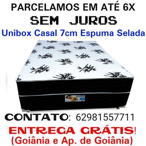 Cama Casal 7cm Espuma Selada, Frete Grátis