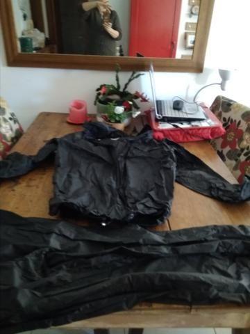Casaco e calça quebra vento motoqueiro - Foto 3