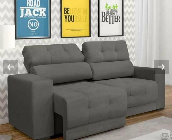 Sofá retrátil grande e confortável direto da fábrica ...