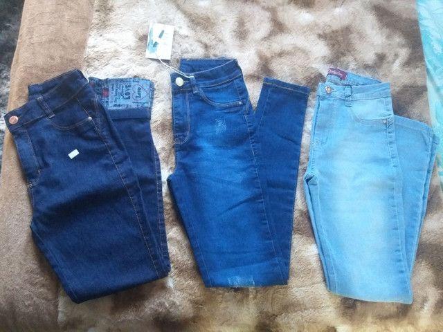 3 calças novas por 150,00