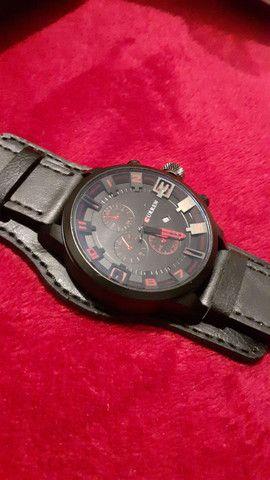 Relógio Curren pulseira de couro masculino