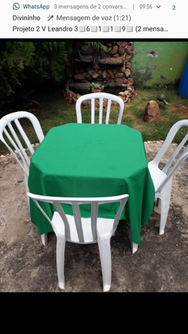 Mesas e cadeiras (LOCAÇÃO) - Foto 6