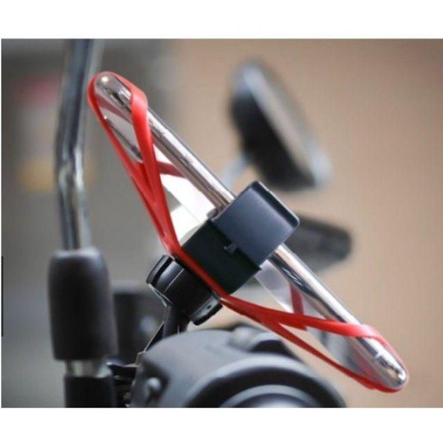 Suporte Universal De Moto E Bike De Silicone 360 Tomate - Foto 5