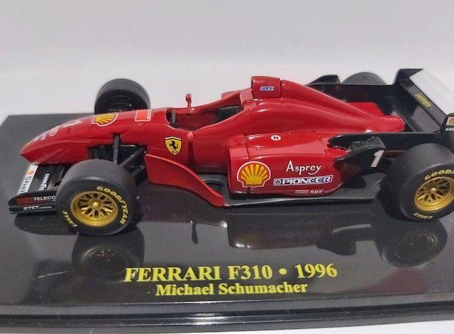 MINIATURA - FERRARI F310 - MICHAEL SCHUMACHER - 1996 R$190,00<br> - Foto 4