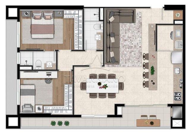 Apartamento à venda com 3 dormitórios em Centro, Ponta grossa cod:V426 - Foto 6
