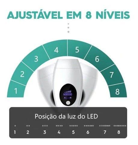 Depilador Laser Branco com Tela LCD 600000 Pulsos Indolor Unissex IPL Novo - Foto 5