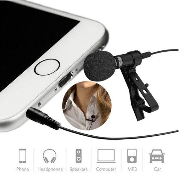 Microfone Lapela Celular Profissional Stereo iPhone Android