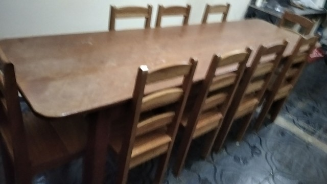 Mesa com 10 cadeira Manacapuru