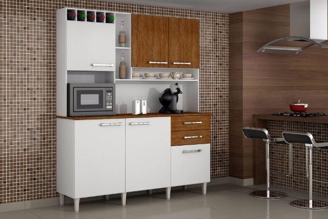 Super Kitão Topázio Lançamento (Produto Novo na caixa)  Móveis  Bonsucesso # Armario De Cozinha Irmol Orquidea