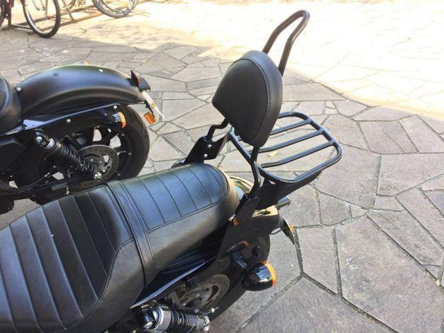 Sissy bar com e sem grelha para moto Custom