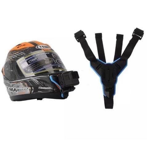 Suporte ajustável para capacetes compatível com GoPro, DJi Osmo Action, SJCAM e similares