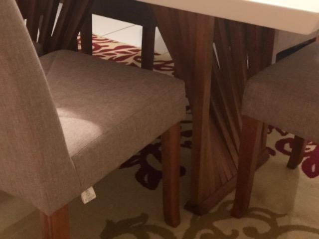 Mesa em laka branca e madeira maciça com console. - Foto 5