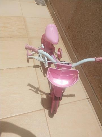 Bicicleta Infantil Aro 12 Nathor Flower Rosa - Foto 3
