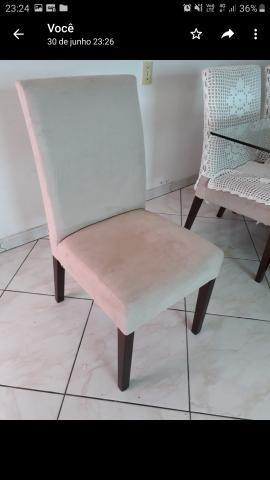 Mesa de vidro 8 cadeiraa - Foto 3