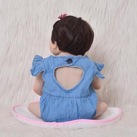 Bebê Reborn Boneca Realista Corpo De Silicone 57 Cm Menina Frete Grátis - Foto 5