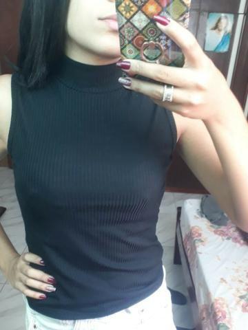 Regatinhas com bojo, blusinhas com gola alta, body, T-Shirts - Foto 3