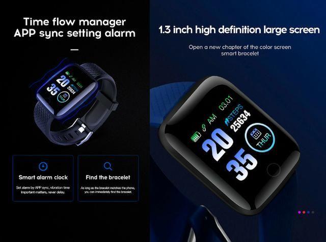 Entrega Grátis Maceió * Relógio Smartwatch Bakeey 116 Plus Batimentos Pressão Passos - Foto 3