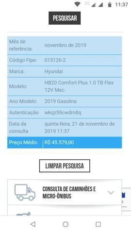 HB20 1.0 Turbo 2019 Abaixo da Tabela - Foto 14
