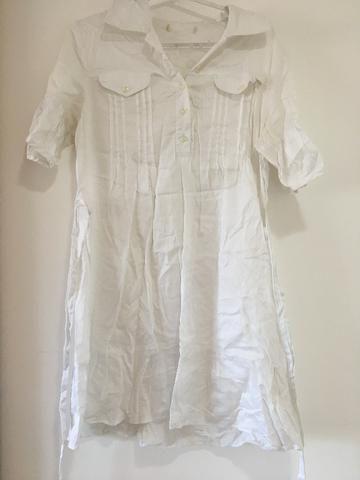 Vestido branco tam P/ serve M $15 - Foto 2