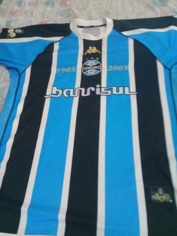 Camisa oficial do Grêmio - Assinada Gilberto Silva (03) - Esportes e ... 03bd0e28b336d