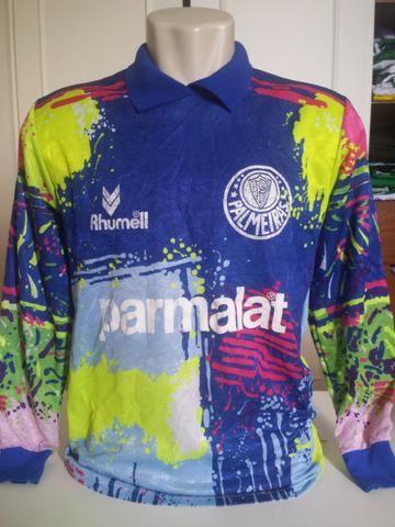 b1df0a4251 Linda e Rara camisa de goleiro do Palmeiras de 1993 original da época