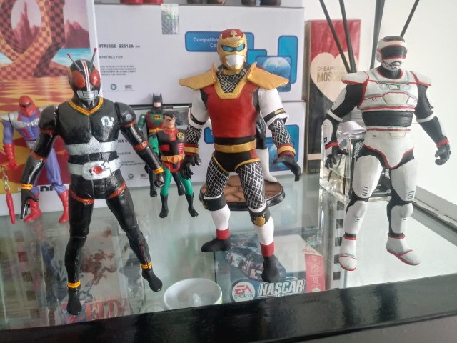Jaspion, Kamem rider, Jiraya, Goku, Jiren (action figure)