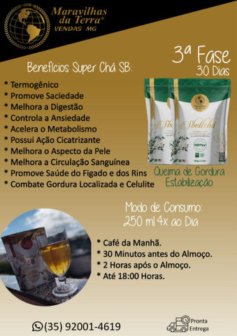 Chá Emagrecedor Mais Vendido do Brasil _ Super Chá Sb - Foto 2