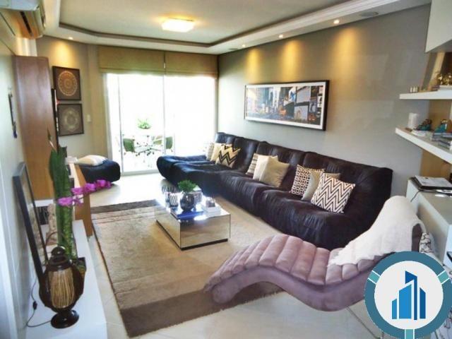 Apartamento para Venda, 03 dormitórios c/ suíte, 2 salas, 2 vagas, 120,87 m² privativos, B - Foto 2