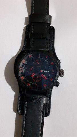 Relógio Curren pulseira de couro masculino - Foto 2